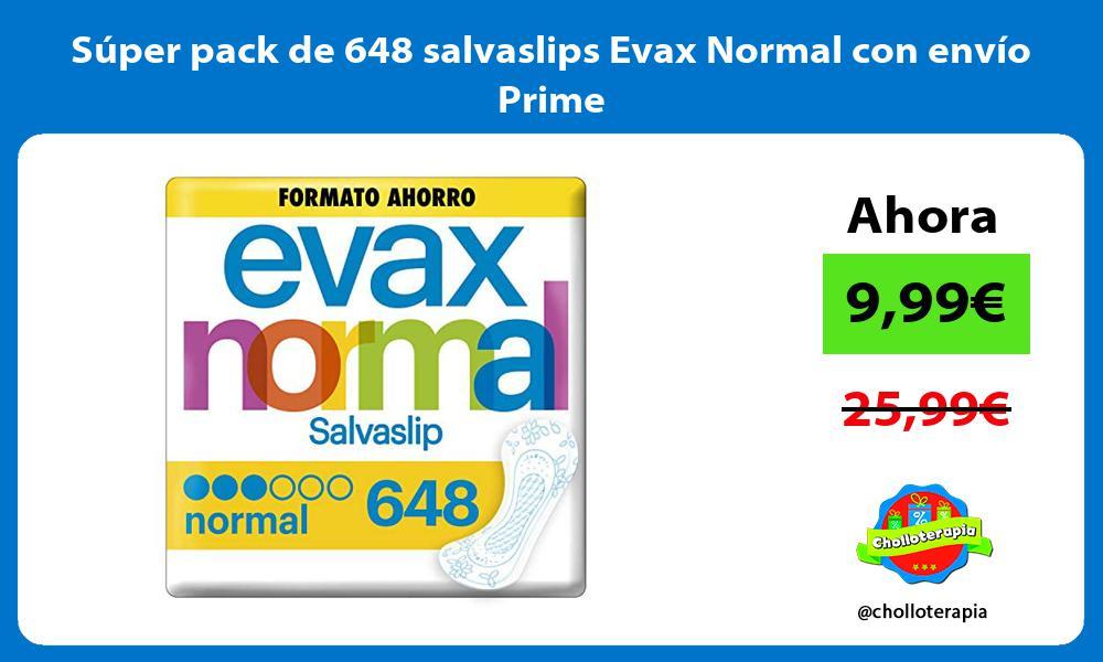 Súper pack de 648 salvaslips Evax Normal con envío Prime