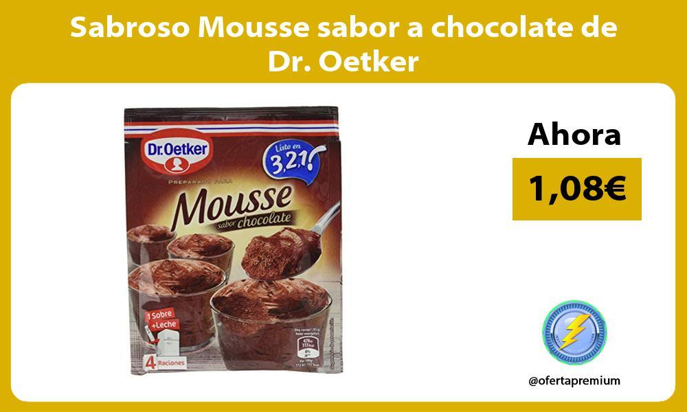 Sabroso Mousse sabor a chocolate de Dr Oetker