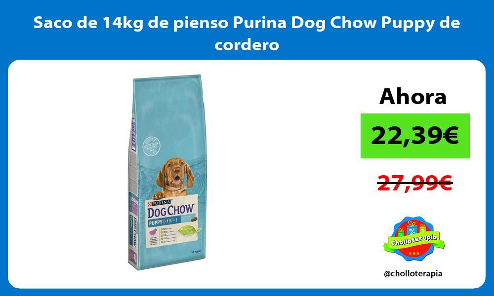 Saco de 14kg de pienso Purina Dog Chow Puppy de cordero