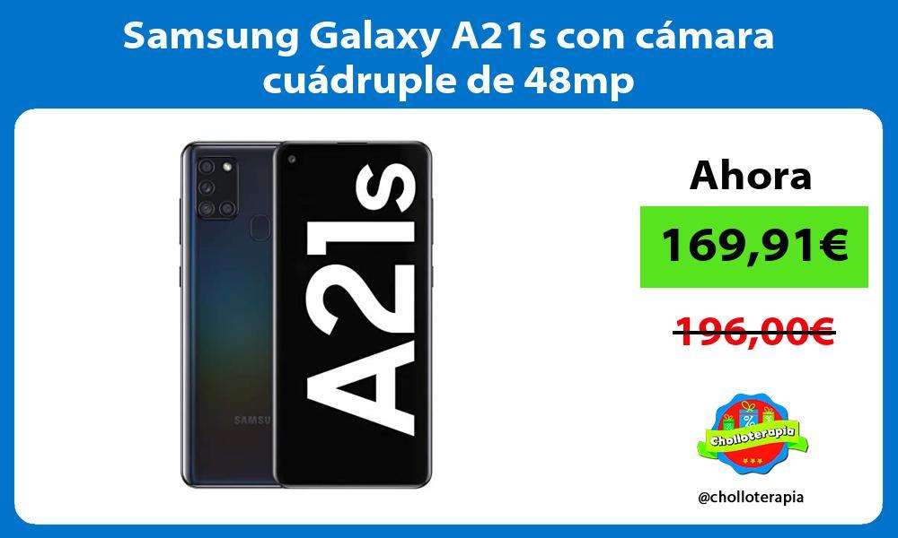 Samsung Galaxy A21s con cámara cuádruple de 48mp