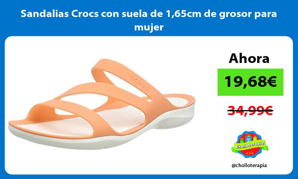 Sandalias Crocs con suela de 165cm de grosor para mujer