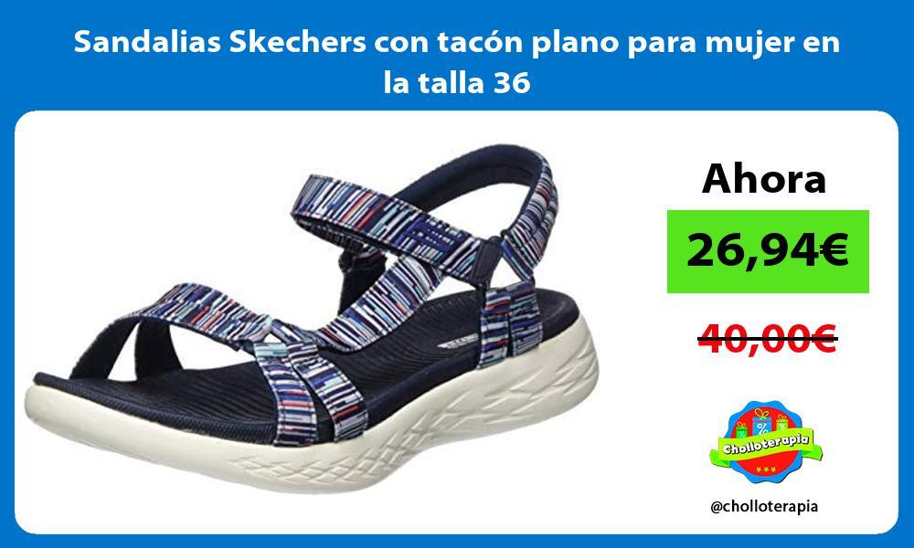 Sandalias Skechers con tacón plano para mujer en la talla 36
