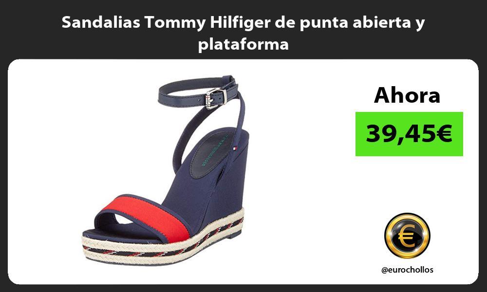 Sandalias Tommy Hilfiger de punta abierta y plataforma