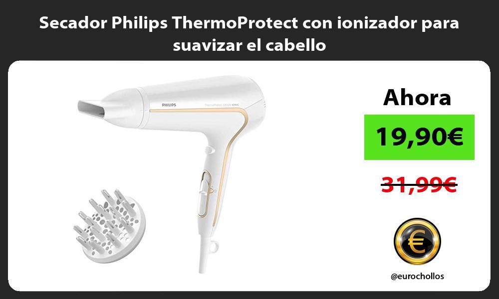 Secador Philips ThermoProtect con ionizador para suavizar el cabello