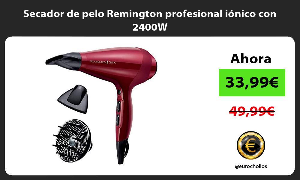 Secador de pelo Remington profesional iónico con 2400W