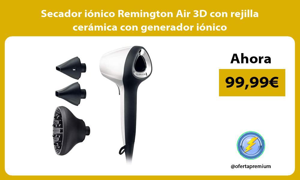 Secador iónico Remington Air 3D con rejilla cerámica con generador iónico
