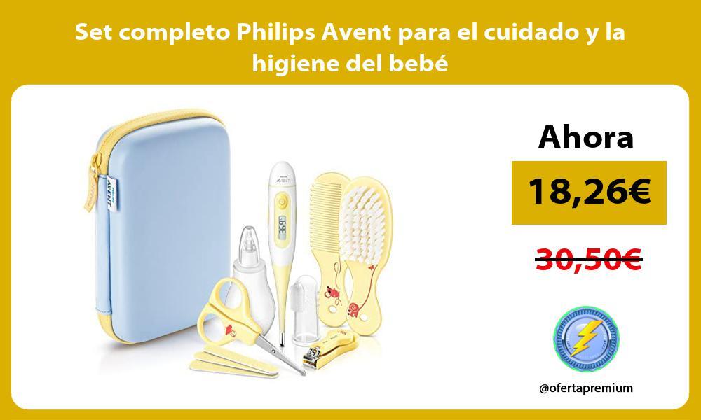 Set completo Philips Avent para el cuidado y la higiene del bebé