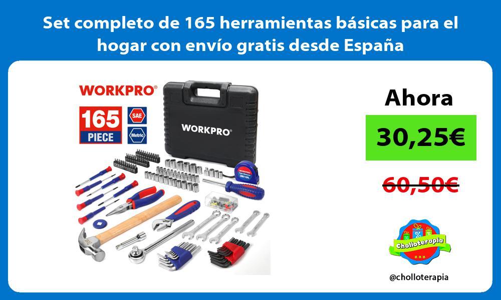 Set completo de 165 herramientas básicas para el hogar con envío gratis desde España