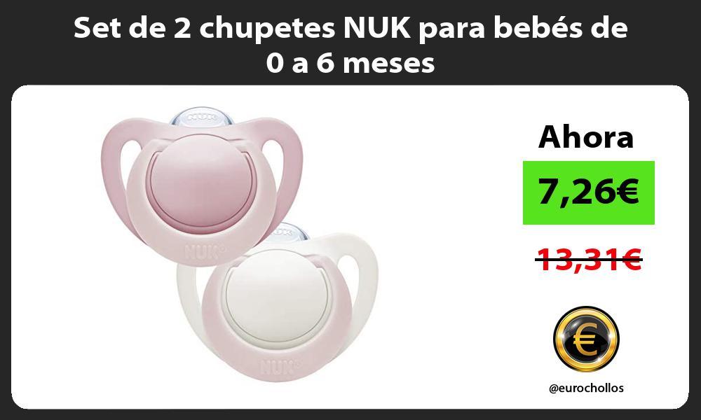 Set de 2 chupetes NUK para bebés de 0 a 6 meses