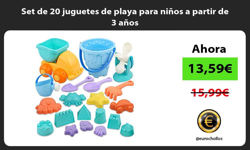 Set de 20 juguetes de playa para niños a partir de 3 años