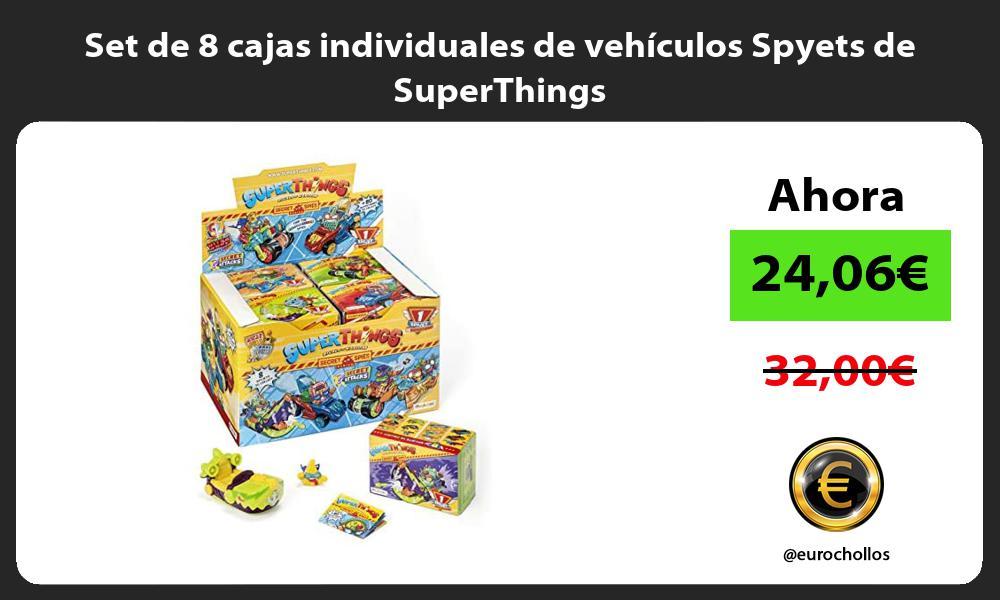 Set de 8 cajas individuales de vehículos Spyets de SuperThings