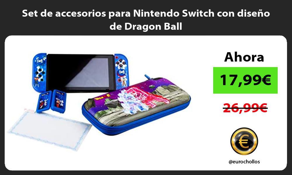 Set de accesorios para Nintendo Switch con diseño de Dragon Ball