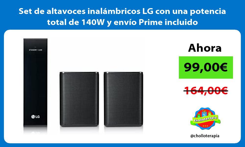 Set de altavoces inalámbricos LG con una potencia total de 140W y envío Prime incluido