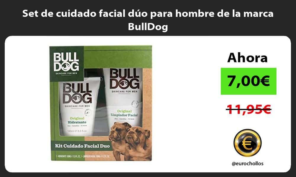 Set de cuidado facial dúo para hombre de la marca BullDog