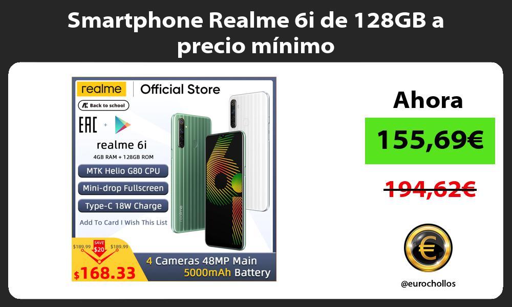 Smartphone Realme 6i de 128GB a precio mínimo
