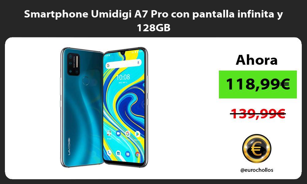 Smartphone Umidigi A7 Pro con pantalla infinita y 128GB