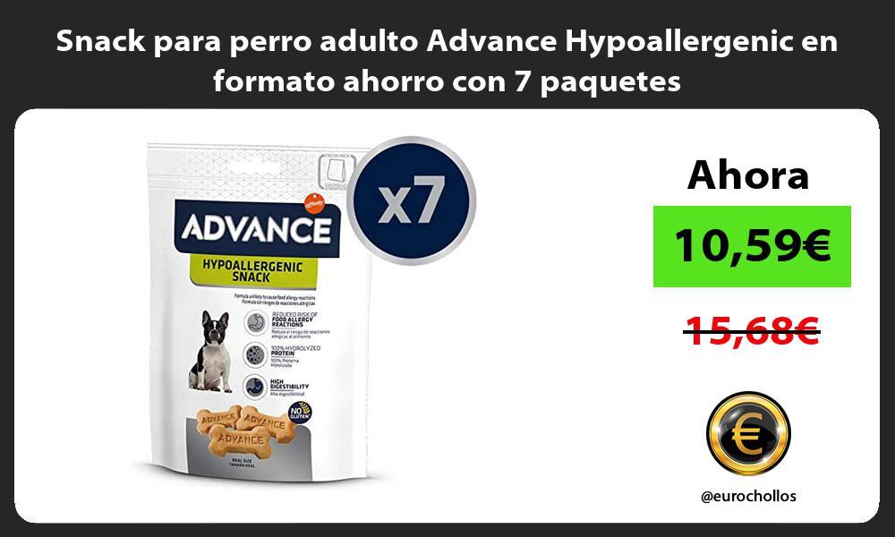 Snack para perro adulto Advance Hypoallergenic en formato ahorro con 7 paquetes