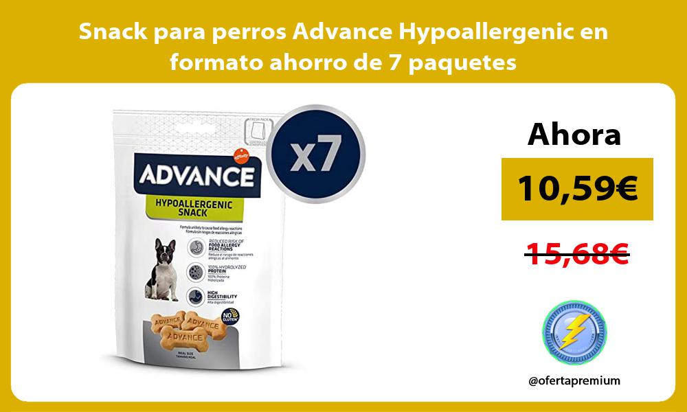 Snack para perros Advance Hypoallergenic en formato ahorro de 7 paquetes