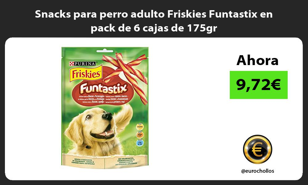 Snacks para perro adulto Friskies Funtastix en pack de 6 cajas de 175gr