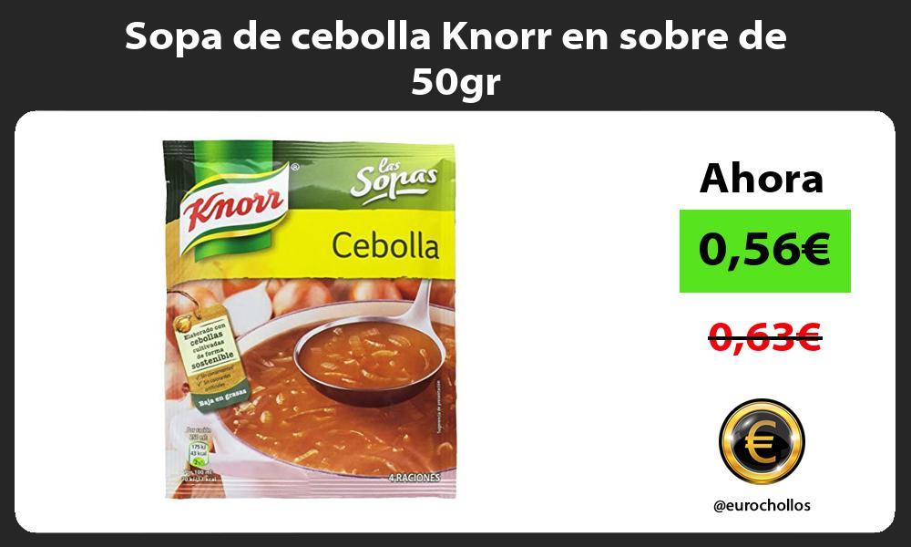 Sopa de cebolla Knorr en sobre de 50gr
