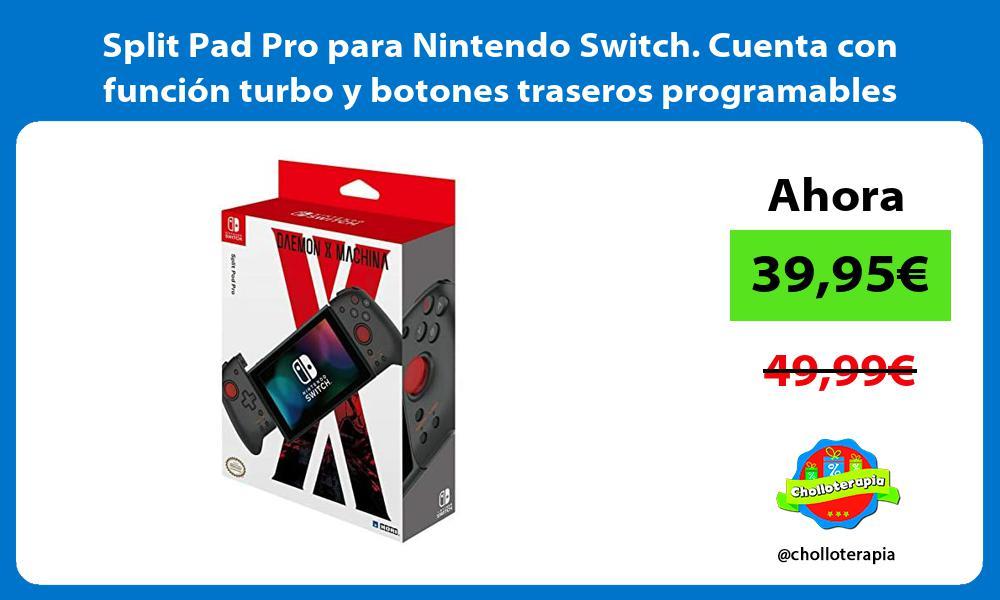 Split Pad Pro para Nintendo Switch Cuenta con función turbo y botones traseros programables