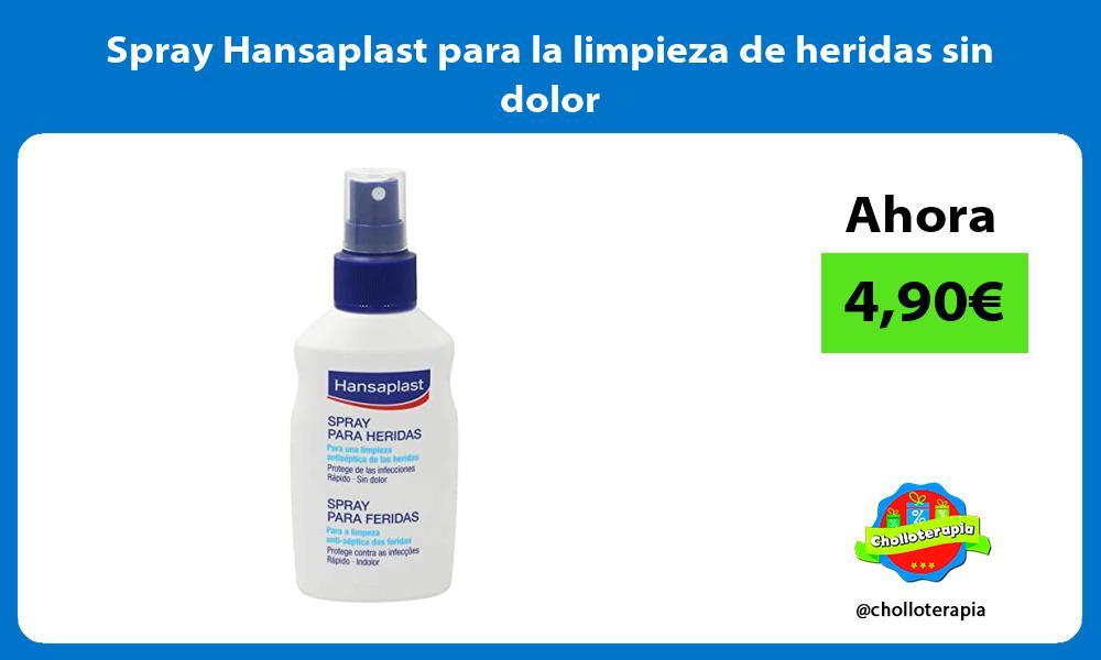 Spray Hansaplast para la limpieza de heridas sin dolor