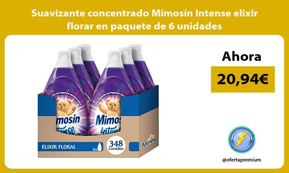 Suavizante concentrado Mimosín Intense elixir florar en paquete de 6 unidades