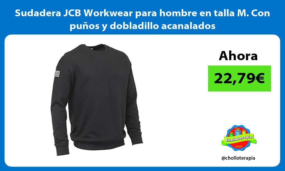 Sudadera JCB Workwear para hombre en talla M Con puños y dobladillo acanalados