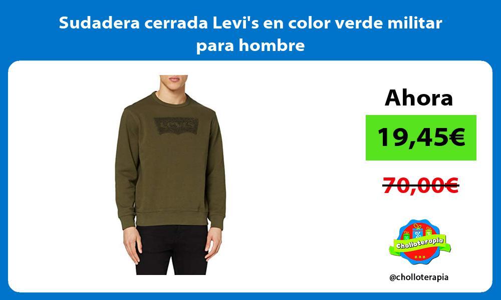 Sudadera cerrada Levis en color verde militar para hombre