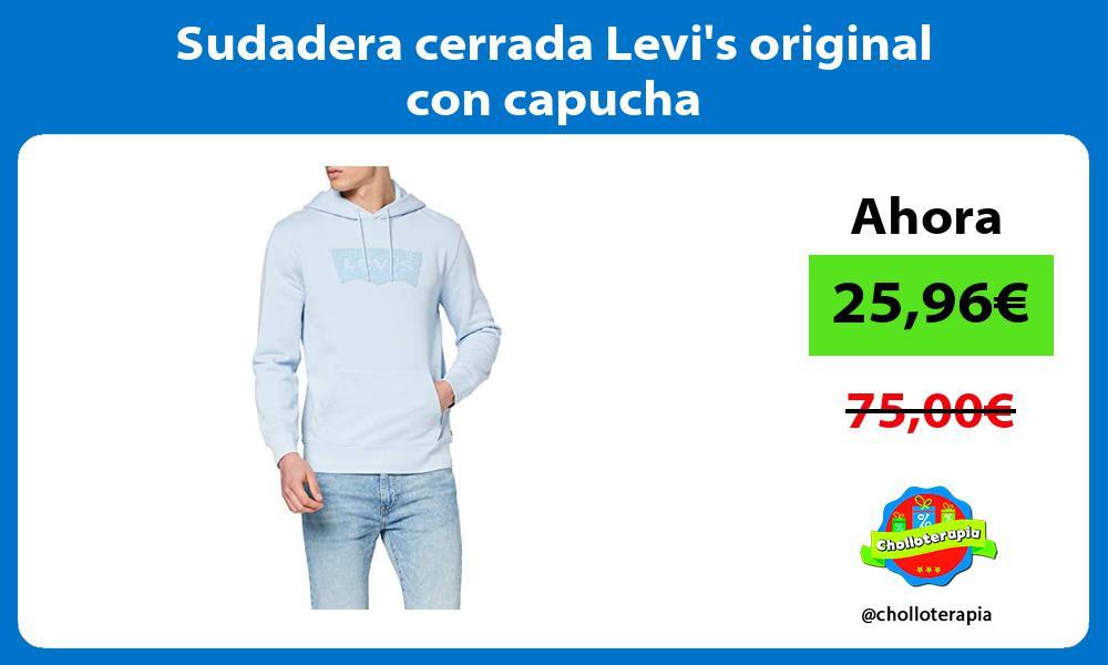 Sudadera cerrada Levis original con capucha