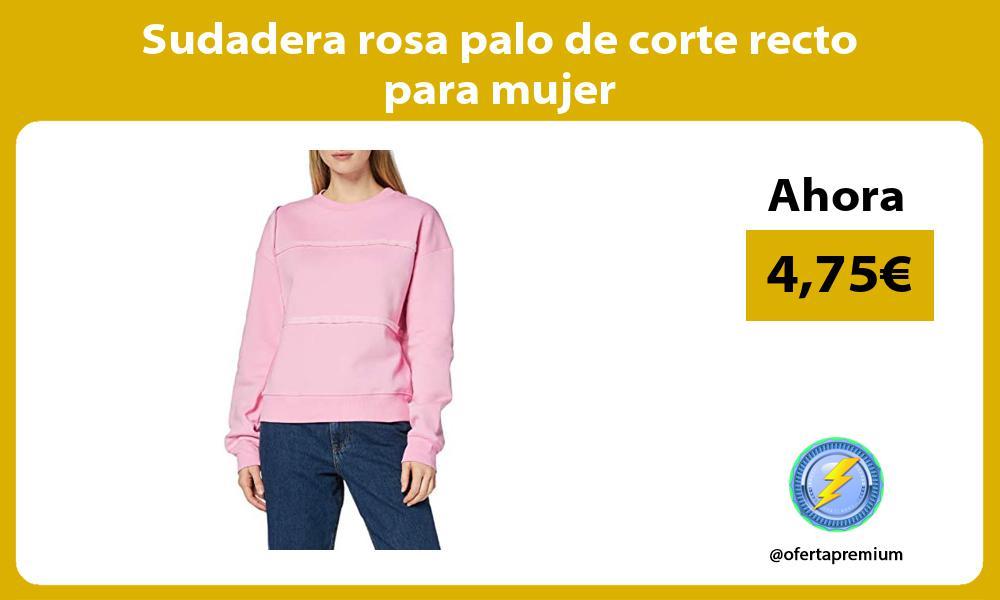 Sudadera rosa palo de corte recto para mujer