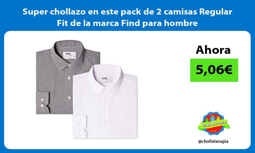 Super chollazo en este pack de 2 camisas Regular Fit de la marca Find para hombre
