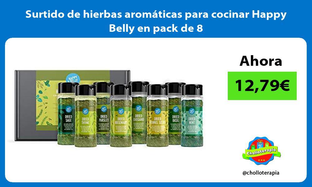 Surtido de hierbas aromáticas para cocinar Happy Belly en pack de 8