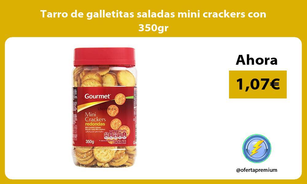 Tarro de galletitas saladas mini crackers con 350gr