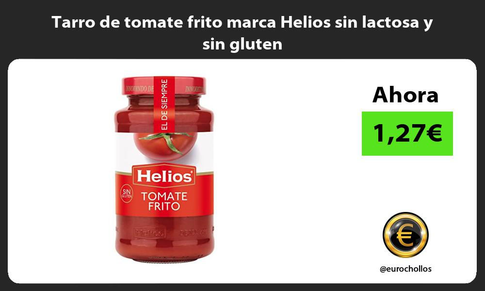 Tarro de tomate frito marca Helios sin lactosa y sin gluten
