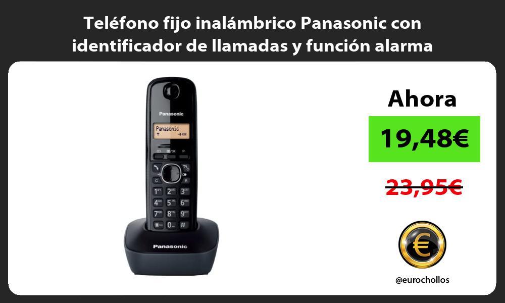 Teléfono fijo inalámbrico Panasonic con identificador de llamadas y función alarma