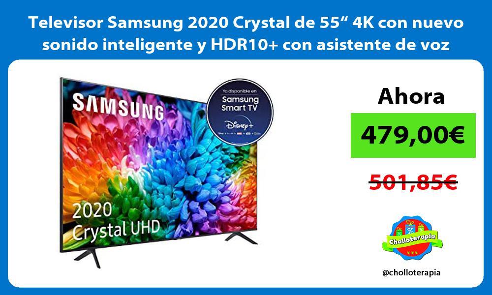 """Televisor Samsung 2020 Crystal de 55"""" 4K con nuevo sonido inteligente y HDR10 con asistente de voz"""