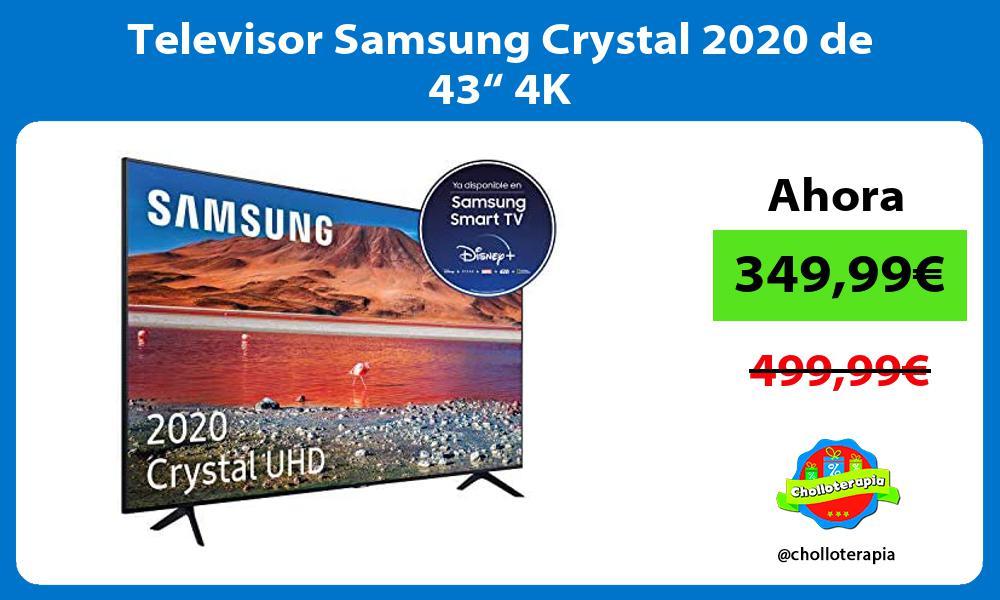 """Televisor Samsung Crystal 2020 de 43"""" 4K"""