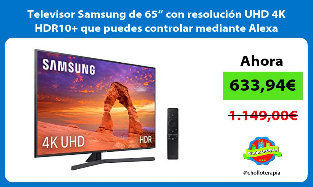 "Televisor Samsung de 65"" con resolución UHD 4K HDR10 que puedes controlar mediante Alexa"