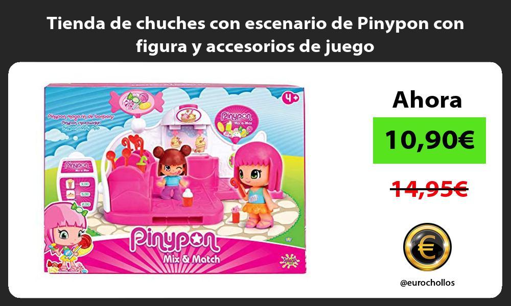 Tienda de chuches con escenario de Pinypon con figura y accesorios de juego