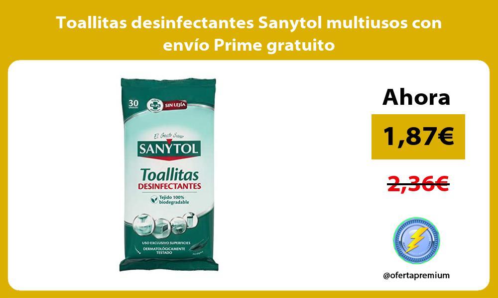 Toallitas desinfectantes Sanytol multiusos con envío Prime gratuito