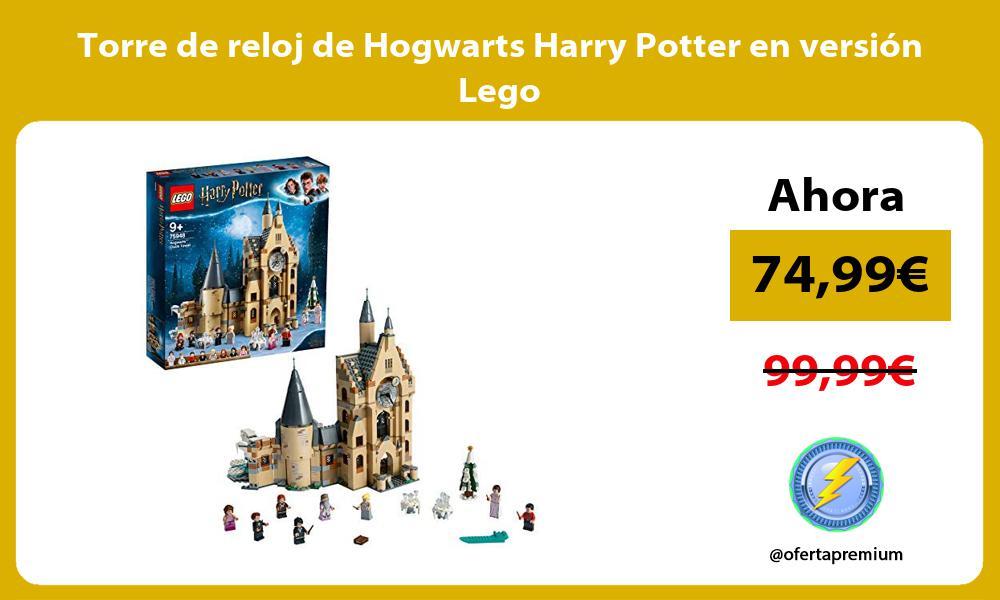 Torre de reloj de Hogwarts Harry Potter en versión Lego