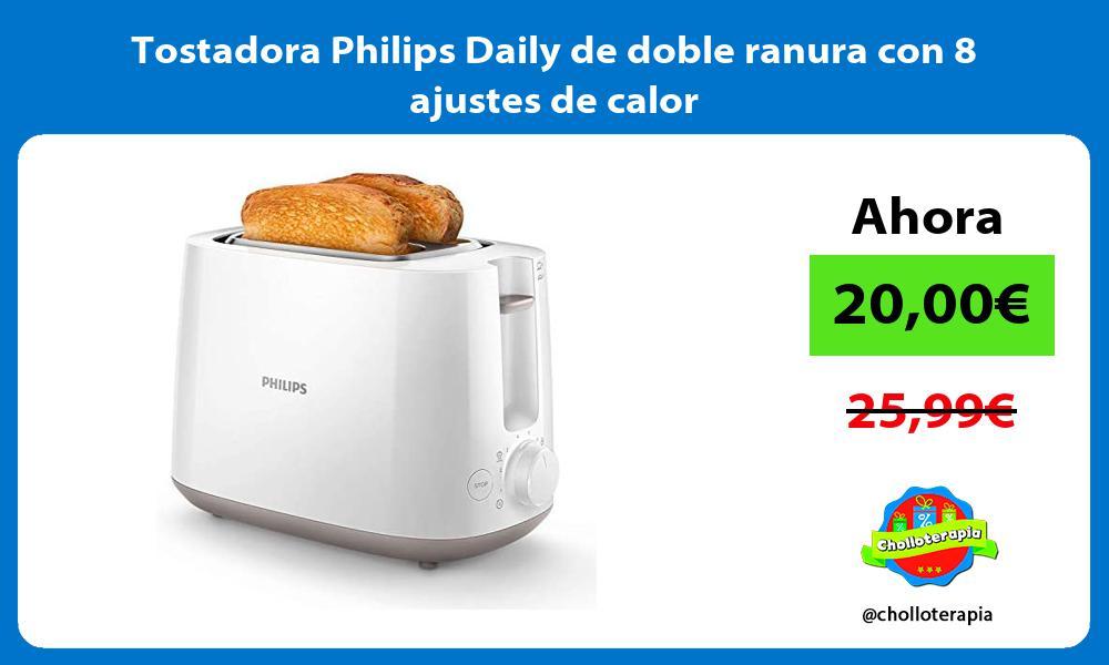 Tostadora Philips Daily de doble ranura con 8 ajustes de calor