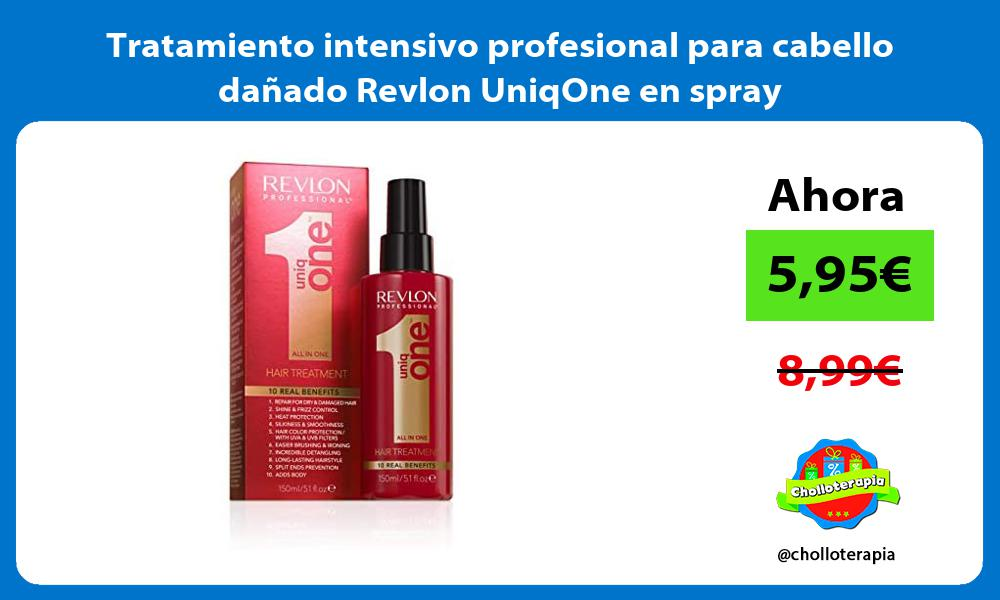 Tratamiento intensivo profesional para cabello dañado Revlon UniqOne en spray
