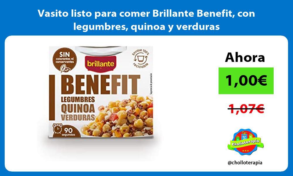 Vasito listo para comer Brillante Benefit con legumbres quinoa y verduras