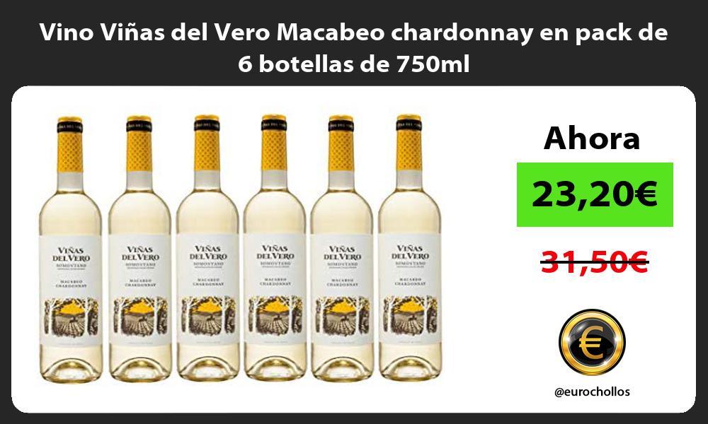 Vino Viñas del Vero Macabeo chardonnay en pack de 6 botellas de 750ml
