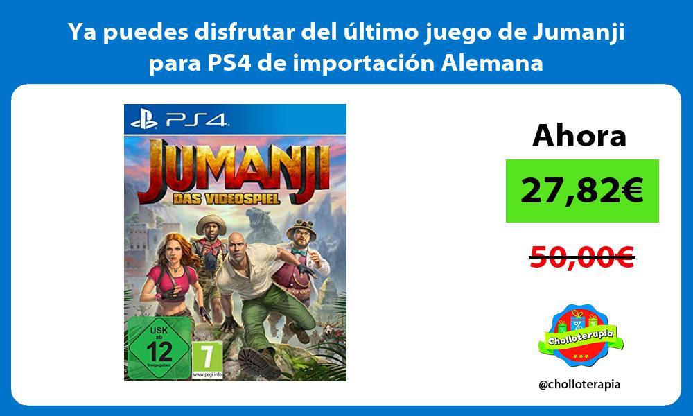 Ya puedes disfrutar del último juego de Jumanji para PS4 de importación Alemana