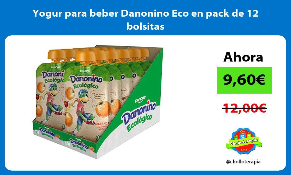 Yogur para beber Danonino Eco en pack de 12 bolsitas