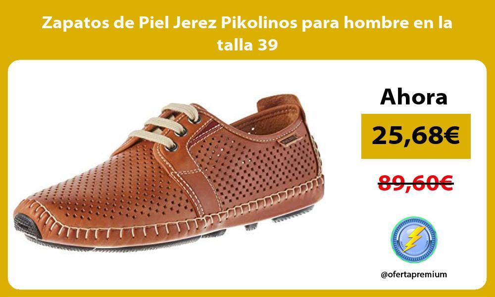 Zapatos de Piel Jerez Pikolinos para hombre en la talla 39