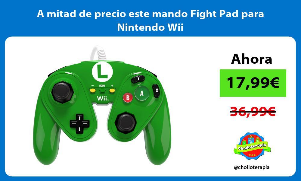 A mitad de precio este mando Fight Pad para Nintendo Wii